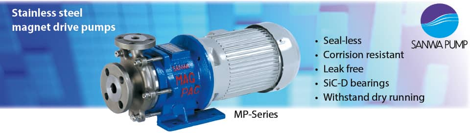 SANWA magnetic centrifugal pumps stainless steel